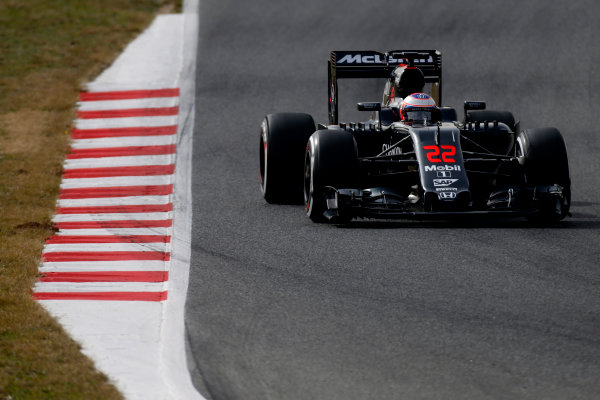 Circuit de Catalunya, Barcelona, Spain Monday 22 February 2016. Jenson Button, McLaren MP4-31 Honda. World Copyright: Glenn Dunbar/LAT Photographic ref: Digital Image _W2Q1121