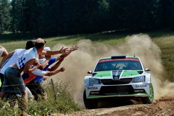 Esapekka Lappi (FIN) / Janne Ferm (FIN), Skoda Motorsport Skoda Fabia R5 RC2 at FIA World Rally Championship, Rd7, Rally Poland, Day Three, Mikolajki, Poland, 3 July 2016.