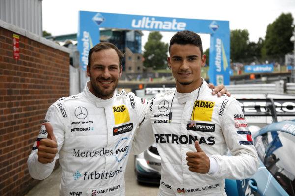 Pole sitter Gary Paffett, Mercedes-AMG Team HWA with Pascal Wehrlein, Mercedes-AMG Team HWA.