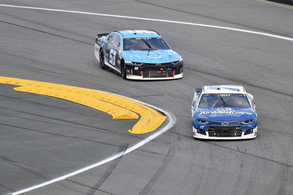 #77: Justin Haley, Spire Motorsports, Chevrolet Camaro  and #53: Joey Gase, Rick Ware Racing, Ford Mustang