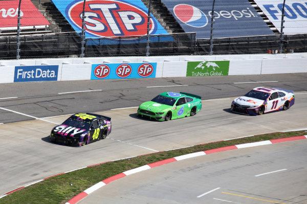 #48: Jimmie Johnson, Hendrick Motorsports, Chevrolet Camaro Ally #6: Ryan Newman, Roush Fenway Racing, Ford Mustang Acorns #11: Denny Hamlin, Joe Gibbs Racing, Toyota Camry FedEx Ground