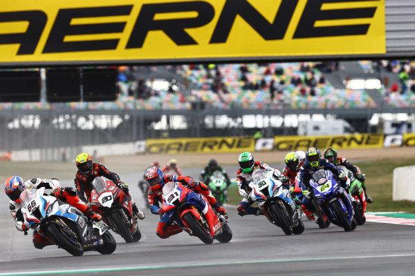 Tom Sykes, BMW Motorrad WorldSBK Team, Leon Haslam, Team HRC, Sylvain Barrier, Brixx Performance, Eugene Laverty, BMW Motorrad WorldSBK Team.