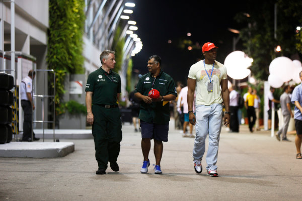 Marina Bay Circuit, Singapore. Friday 20th September 2013. Tony Fernandes, Co-Chairman, Caterham Group in the paddock. World Copyright: Charles Coates/LAT Photographic. ref: Digital Image _N7T2881
