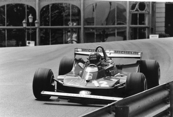 1979 Monaco Grand Prix. Monte Carlo, Monaco. 27 May 1979. Gilles Villeneuve (Ferrari 312T4) retired, close to the barrier, action.  World Copyright: LAT Photographic Ref: L79/814/22