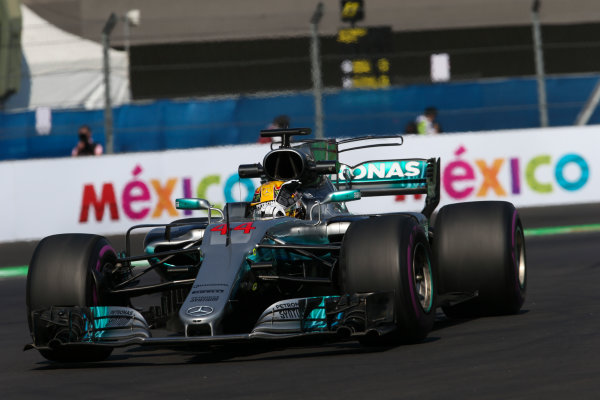 Autodromo Hermanos Rodriguez, Mexico City, Mexico. Friday 27 October 2017. Lewis Hamilton, Mercedes F1 W08 EQ Power+. World Copyright: Charles Coates/LAT Images  ref: Digital Image AN7T8570