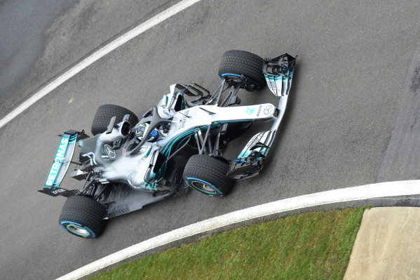 Mercedes-AMG F1 W09 EQ Power+ Launch and First Run Silverstone, England, 22 February 2018. Valtteri Bottas (FIN) Mercedes-AMG F1 W09 EQ Power. World Copyright: Simon Galloway/Sutton Images/LAT Images Photo ref: SUT_Mercedes_AMG_F_1567641