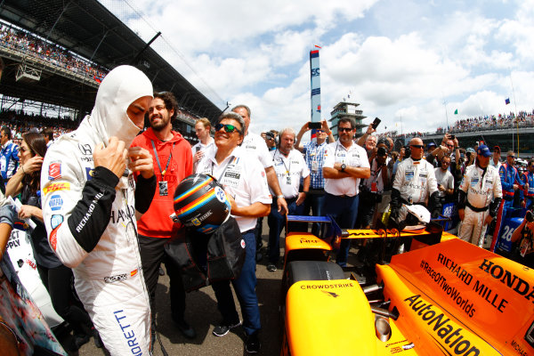 Verizon IndyCar Series Indianapolis 500 Race Indianapolis Motor Speedway, Indianapolis, IN USA Sunday 28 May 2017 Fernando Alonso, McLaren-Honda-Andretti Honda. World Copyright: Steven Tee/LAT Images ref: Digital Image _R3I8297