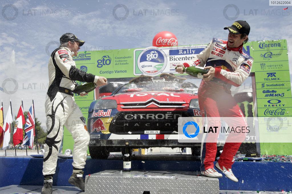 2010 FIA World Rally ChampionshipRound 02Rally Mexico 4-7 Mars 2010Petter Solberg, Citroen WRC, PodiumWorldwide Copyright: McKlein/LAT