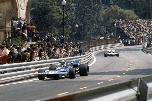 1971 Spanish Grand Prix.Montjuich Park, Barcelona, Spain. 16-18 April 1971.Jackie Stewart (Tyrrell 003-Ford Cosworth), 1st position.World Copyright: LAT PhotographicRef: 35mm transparency 71ESP06