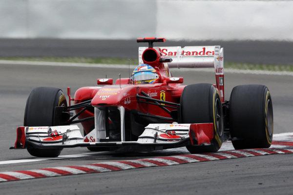 Fernando Alonso (ESP) Ferrari 150 Italia.  Formula One World Championship, Rd 10, German Grand Prix, Race, Nurburgring, Germany, Sunday 24 July 2011.  BEST IMAGE