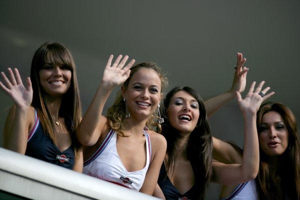 2007 Italian Grand Prix - ThursdayAutodromo di Monza, Monza, Italy.6th September 2007.Martini girls on show in the paddock. Glamour. Atmosphere.World Copyright: Andrew Ferraro/LAT Photographicref: Digital Image VY9E9370