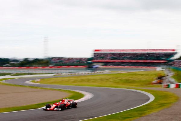 Suzuka Circuit, Japan. Saturday 07 October 2017. Kimi Raikkonen, Ferrari SF70H. World Copyright: Andy Hone/LAT Images  ref: Digital Image _ONY7072