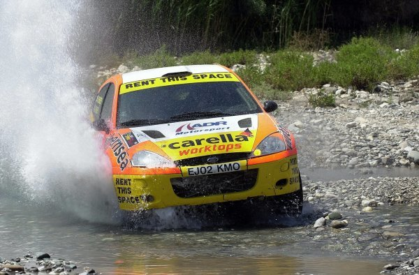 Alistair Ginley (GBR) Ford Focus RS WRC01 with co-driver Rory Kennedy (GBR) finished a superb eighth overall. World Rally Championship, Rd7, Cyprus Rally, Limassol, Cyprus, Day Three, 22 June 2003.DIGITAL IMAGE