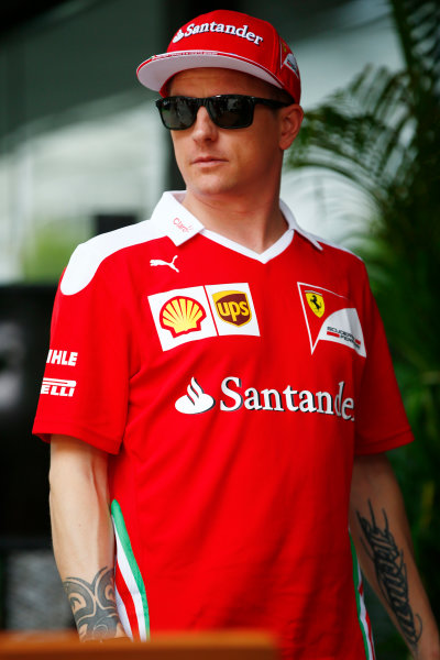 Sepang International Circuit, Sepang, Malaysia. Thursday 29 September 2016. Kimi Raikkonen, Ferrari. World Copyright: Andy Hone/LAT Photographic ref: Digital Image _ONY9177