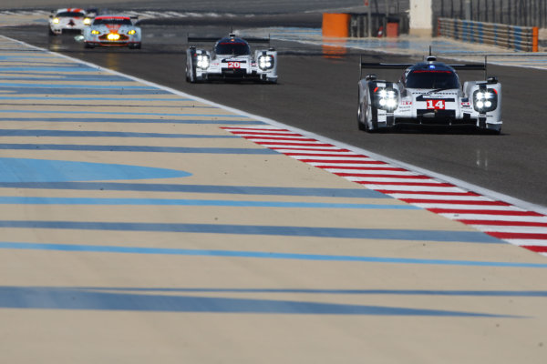 2014 World Endurance Championship, Bahrain International Circuit, Sakhir, Bahrain 13th-15th November, 2014. Romain DUMAS, Neel JANI, Marc LIEB 	Porsche 919 Hybrid  World copyright: Lord/Ebrey/LAT Photographic