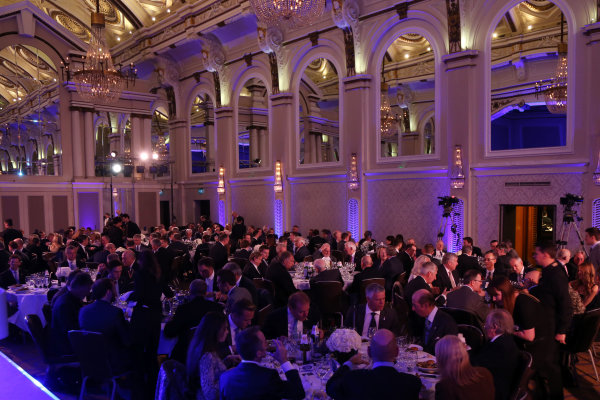 2014 BRDC Annual Awards The Grand Connaught Rooms, London, UK Monday 8 December 2014. Guests sit down to dinner. World Copyright: Ebrey/LAT Photographic. ref: Digital Image Awards-09