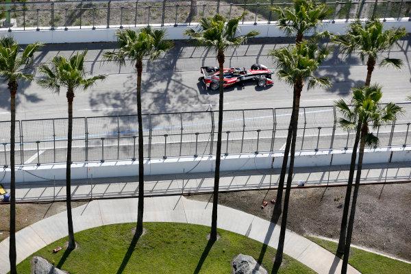 2014/2015 FIA Formula E Championship. Long Beach ePrix, Long Beach, California, United States of America. Friday 3 April 2015 Bruno Senna (BRA)/Mahindra Racing - Renault Spark ST_01  Photo: Jed Leicester/LAT/Formula E ref: Digital Image _JL10582