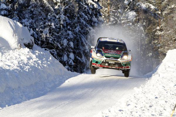 Round 01-Rally Sweden. 10th-13th February 2011.Khalid Al qassimi, Ford WRC, Action.Worldwide Copyright: McKlein/LAT