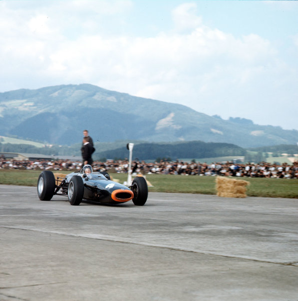 Zeltweg, Austria.21-23 August 1964.Richie Ginther (BRM P261) 2nd position.Ref-3/1399.World Copyright - LAT Photographic