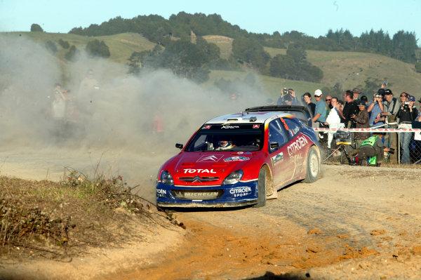 2004 FIA World Rally Champs. Round four, Propecia Rally New Zealand.15th-18th April 2004.Sebastien Loeb, Citroen, action.World Copyright: McKlein/LAT