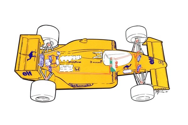 Lotus 99T 1987 active suspension overview