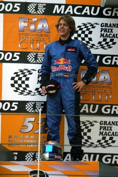 3rd place Sebastian Vettel (GER) ASM F3.  52nd Macau Grand Prix, Race Day, Guia Circuit, Macau, China, 17-20 November 2005. DIGITAL IMAGE