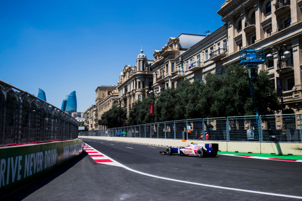 2017 FIA Formula 2 Round 4. Baku City Circuit, Baku, Azerbaijan. Friday 23 June 2017. Sergio Canamasas (ESP, Trident)  Photo: Zak Mauger/FIA Formula 2. ref: Digital Image _54I9556
