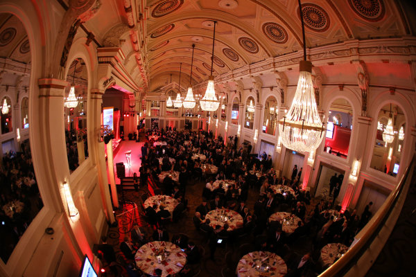 2015 British Racing Drivers Club Awards Grand Connaught Rooms, London Monday 7th December 2015 The guests at dinner. World Copyright: Jakob Ebrey/LAT Photographic ref: Digital Image Awards-05