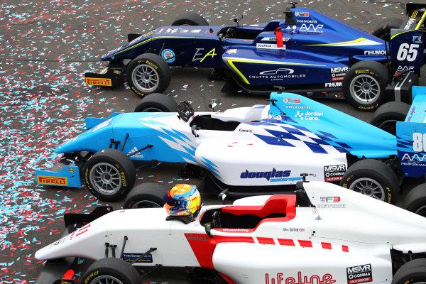 2017 BRDC British F3 Championship, Donington Park, Leicestershire. 23rd - 24th September 2017. Parc Ferme World Copyright: JEP/LAT Images