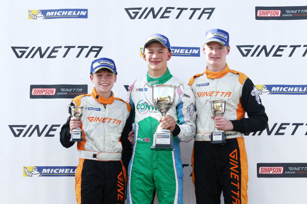 2017 Ginetta Junior Championship,  Knockhill, 12th-13th August 2017, Ginetta Junior Podium World copyright. JEP/LAT Images