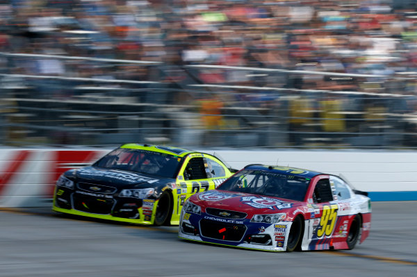 Monster Energy NASCAR Cup Series Apache Warrior 400 Dover International Speedway, Dover, DE USA Sunday 1 October 2017 Michael McDowell, Leavine Family Racing, Chevrolet SS Paul Menard, Richard Childress Racing, Richmond/Menards Chevrolet SS World Copyright: Matthew T. Thacker LAT Images