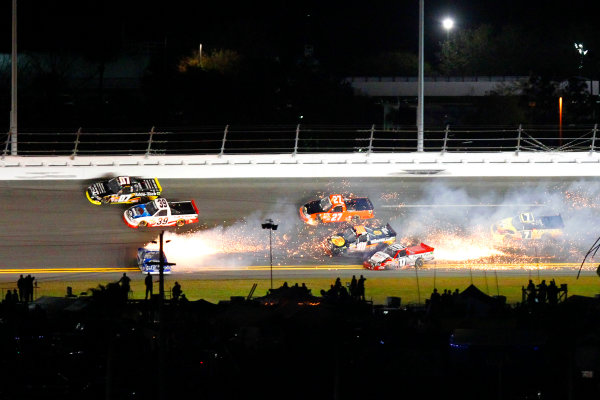 21-22 February, 2013, Daytona Beach, Florida USA crash.(c)2013, Russell LaBounty LAT Photo USA .