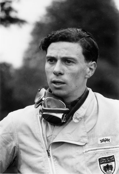 Nurburgring, Germany. 6th August 1961.Jim Clark (Lotus 21-Climax), 4th position, portrait. World Copyright: LAT Photographic.Ref:  608 - 23A.