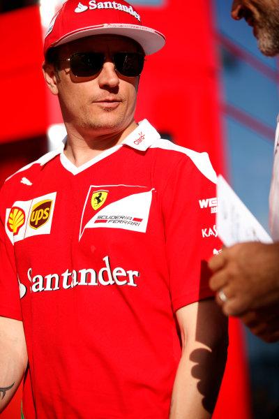 Hungaroring, Budapest, Hungary. Friday 22 July 2016. Kimi Raikkonen, Ferrari. World Copyright: Glenn Dunbar/LAT Photographic ref: Digital Image _W2Q6542