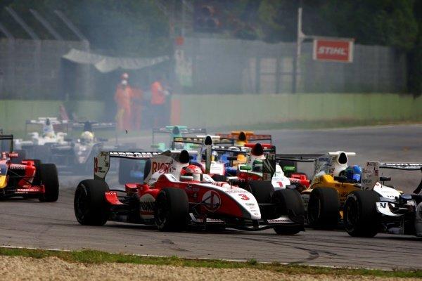Josef Kral (CZE), JD Motorsport, finished second in race 2.International Formula Master, Rd8, Imola, San Marino, Italy, 20 September 2009.