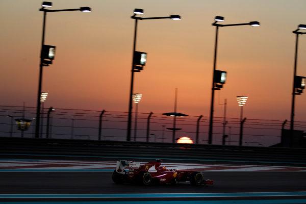 Yas Marina Circuit, Abu Dhabi, United Arab Emirates12th November 2011.Fernando Alonso, Ferrari 150° Italia. Action. World Copyright:Glenn Dunbar/LAT Photographic ref: Digital Image _G7C4475