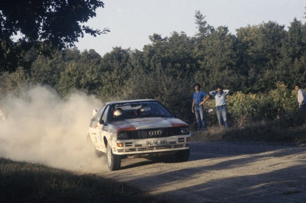 1981 World Rally Championship. San Remo Rally, Italy. 5-10 October 1981. Michele Mouton/Fabrizia Pons (Audi Quattro), 1st position. World Copyright: LAT Photographic Ref: 35mm transparency 81RALLY06