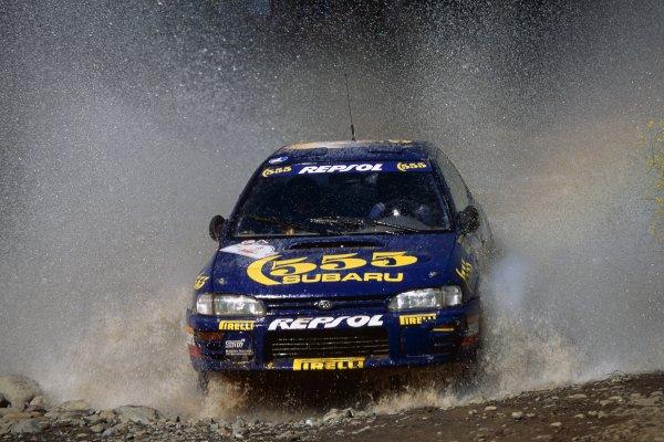 1994 World Rally Championship.Acropolis Rally, Greece. 29-31 May 1994.Carlos Sainz/Luis Moya (Subaru Impreza 555), 1st position.World Copyright: LAT PhotographicRef: 35mm transparency 94RALLY11