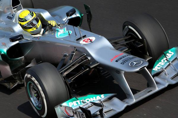 Autodromo Nazionale di Monza, Monza, Italy. 7th September 2012. Nico Rosberg, Mercedes F1 W03.  World Copyright: Steve Etherington/LAT Photographic ref: Digital Image SNE23980 copy