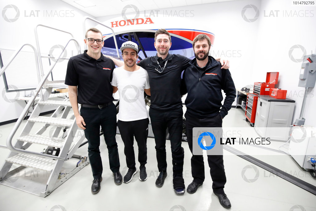 Alonso Andretti IndyCar Seat Fit and Simulator Test