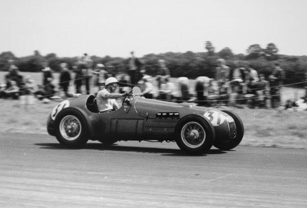 1952 British Grand Prix.Silverstone, Great Britain. 19 July 1952.Lance Macklin (HWM 51-Alta). Ref-4647B/14.World Copyright - LAT Photographic