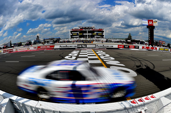 NASCAR XFINITY Series Pocono Green 250 Pocono Raceway, Long Pond, PA USA Saturday 10 June 2017 Brad Keselowski, SKF Ford Mustang crosses the finish line to win. World Copyright: Rusty Jarrett LAT Images ref: Digital Image 17POC1rj_3196