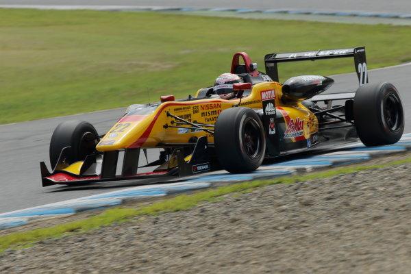 2016 Japanese Formula 3 Championship. Motegi, Japan. 20th - 21st August 2016. Rd 11 & 12. Round 12 Winner Jann Mardenborough ( #22 B-MAX NDDP F3 ) action World Copyright : Yasushi Ishihara/LAT Photographic Ref : 2016JF3_R11&12_011