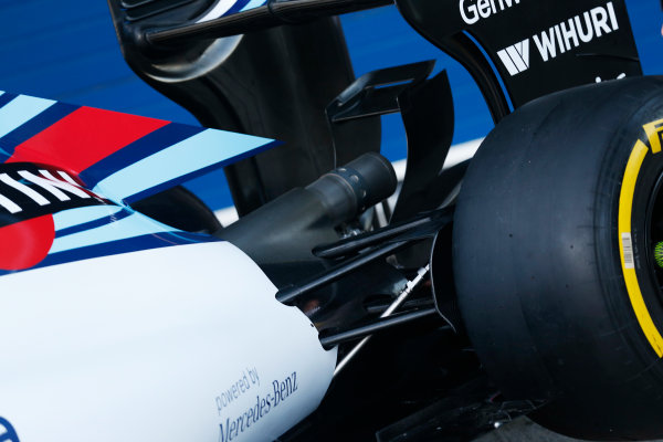 2015 F1 Pre Season Test 1 - Day 1 Circuito de Jerez, Jerez, Spain. Sunday 1 February 2015. Williams FW37 detail. World Copyright: Alastair Staley/LAT Photographic. ref: Digital Image _R6T3152