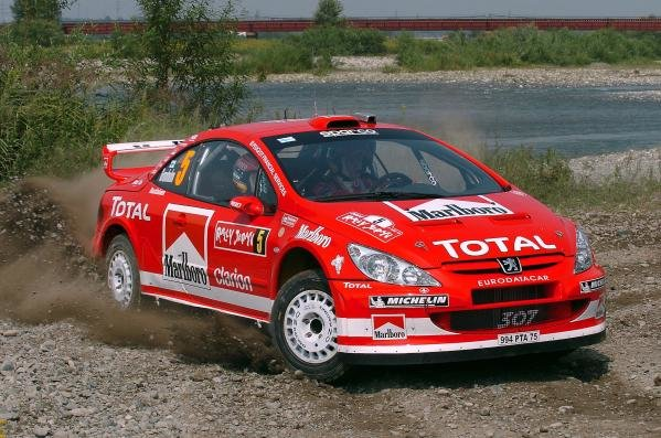 Marcus Gronholm (FIN) / Timo Rautiainen (FIN) Peugeot 307 WRC.World Rally Championship, Rd11, Rally of Japan, Shakedown, Obihiro, Hokkaido, Japan, 2 September2004.DIGITAL IMAGE