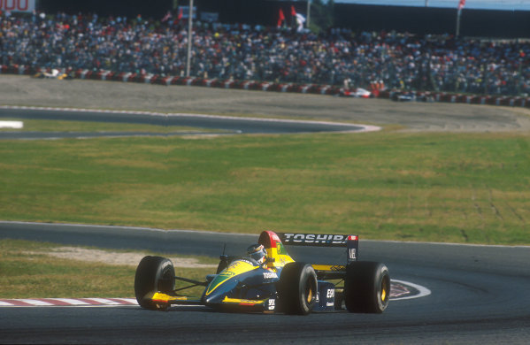 1990 Japanese Grand Prix.Suzuka, Japan.19-21 October 1990.Aguri Suzuki (Lola 90 Lamborghini) 3rd position.Ref-90 JAP 30.World Copyright - LAT Photographic