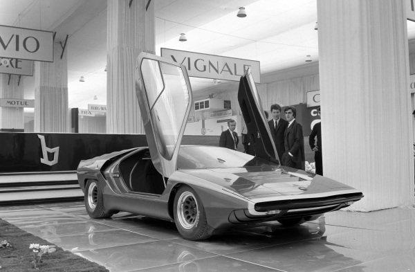 The Bertone design Alfa Romeo Carabo.