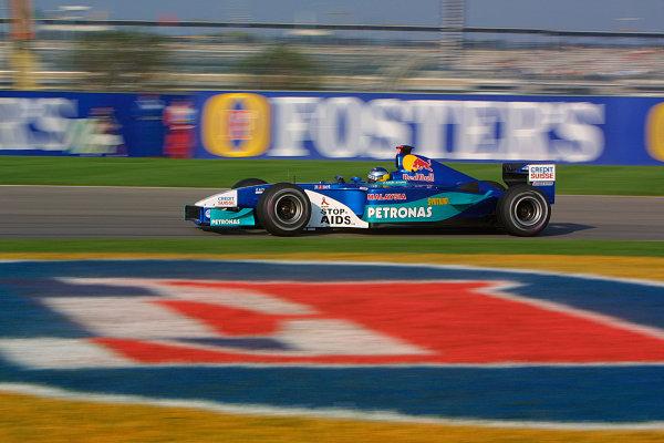 2002 American Grand Prix.Indianapolis, Indiana, USA. 27-29 September 2002.Nick Heidfeld (Sauber C21 Petronas).World Copyright - LAT Photographicref: Digital File Only