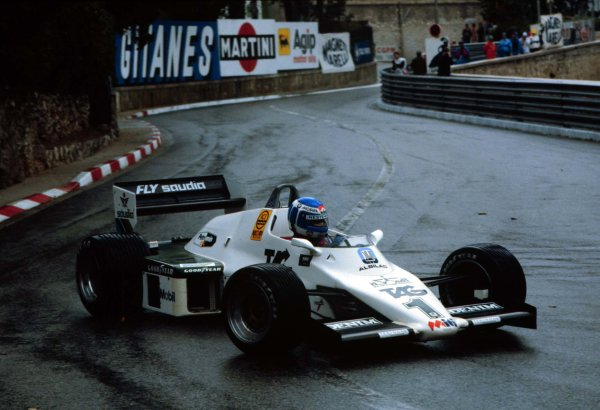 1983 Monaco Grand Prix.Monte Carlo, Monaco.12-15 May 1983.Keke Rosberg (Williams FW08C Ford) 1st position.World Copyright - LAT Photographic