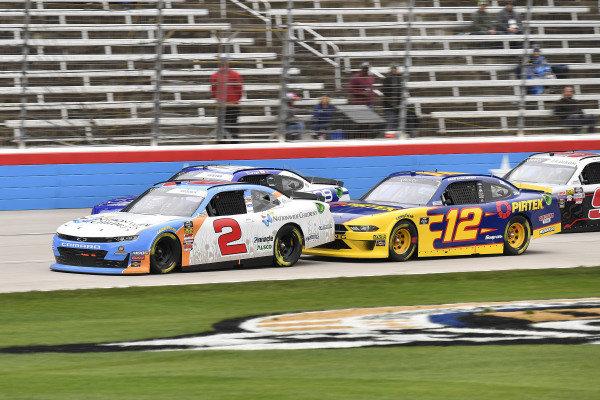 #2: Tyler Reddick, Richard Childress Racing, Chevrolet Camaro Nationwide Children's Hospital and #12: Brad Keselowski, Team Penske, Ford Mustang Pirtek